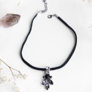 2/$15 ⭐️ Crystal Rhinestone Suede Choker Necklace
